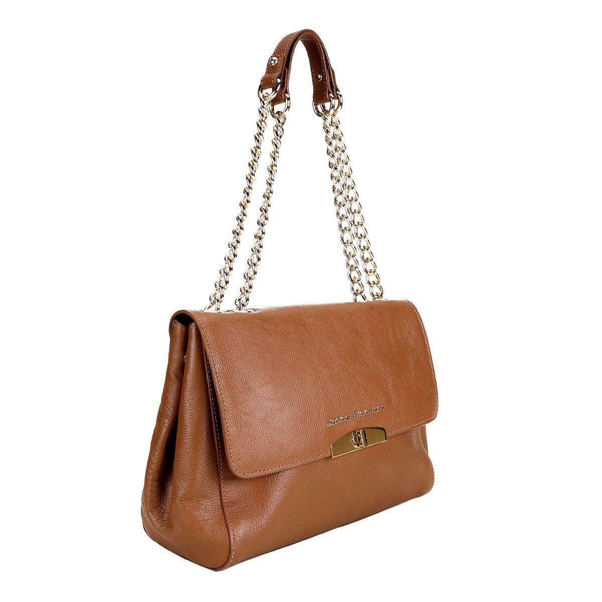 60b56c3ff4 Bolsa Couro Jorge Bischoff Handbag Alça Corrente Feminina - Compre Agora