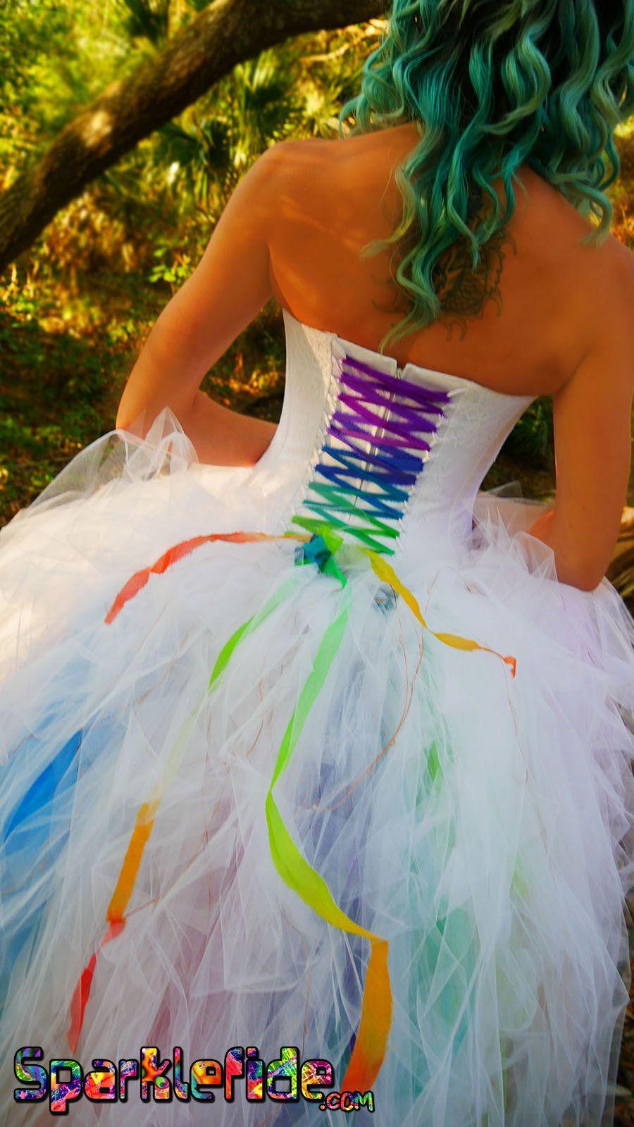 Pin on Rainbow wedding dress