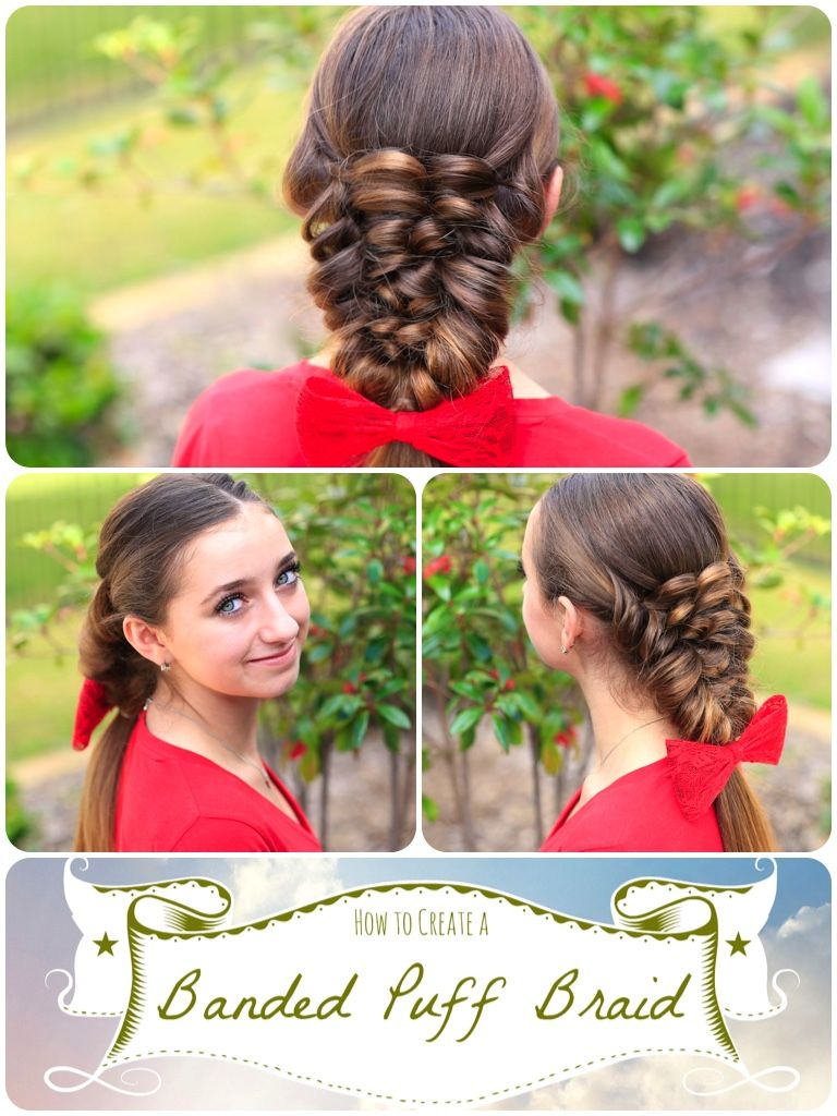 How to create a banded puff braid pinterest mockingjay hair