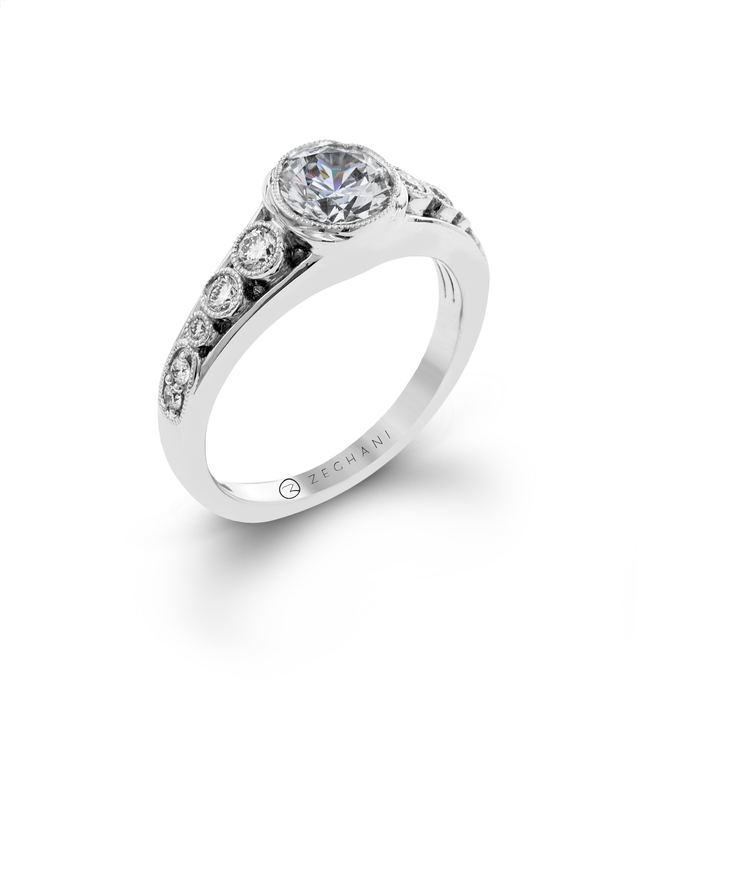 ritani engagement settings white ring in jewellery open band diamond gold tw setting