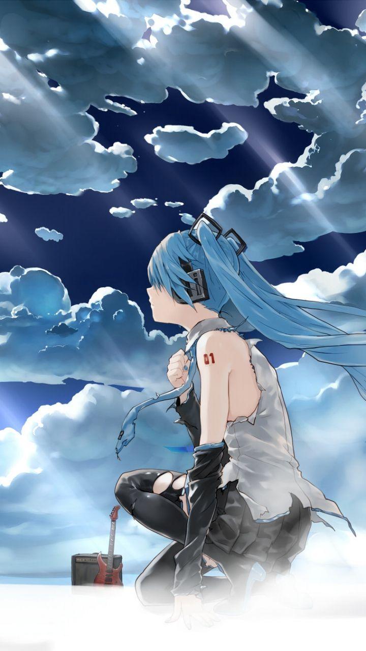 Download Wallpaper 720x1280 Hatsune miku, Vocaloid, Girl