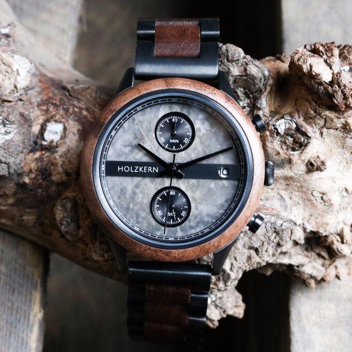 Vecchio Walnut Marble Marble Wood Watch Walnut