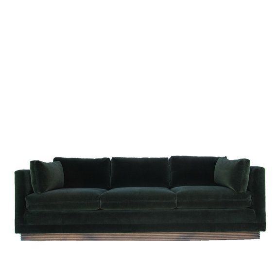 Captivating Gorgeous Henredon Tuxedo Sofa With A Floating Wood Plinth Base. Loose  Cushions. Freshly Upholstered