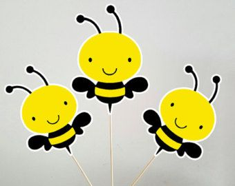 10 Bumble Bee Favor Boxes Birthday Party Baby Shower