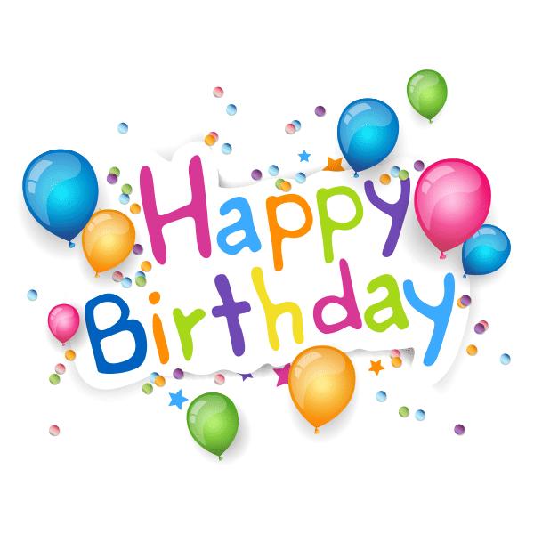 Balloon Strewn Happy Birthday Birthdays And Smileys