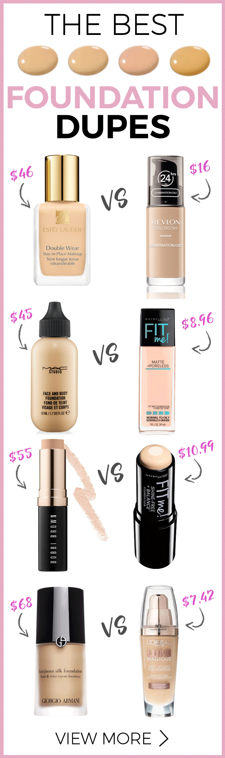 Get the Inside Scoop on the Best Foundation Dupes in
