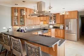 Split Level Kitchen Peninsula With Breakfast Bar With Images