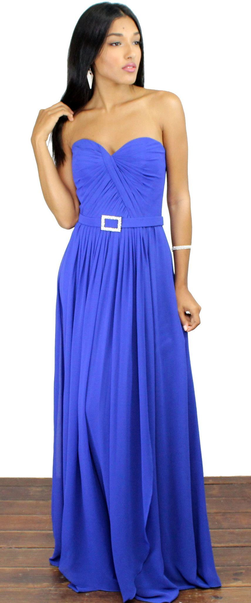 Reach out royal blue strapless gown products gowns and royal blue