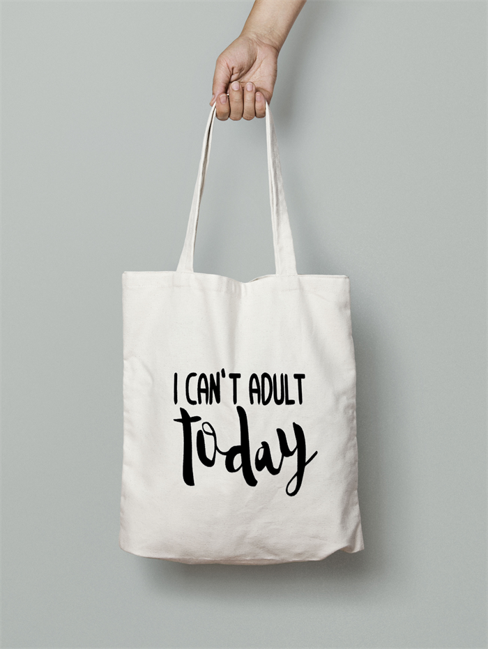 FREE SHIPPING Funny Tote Bag - Canvas Tote Bag Can t Adult today ... 4af40163ef6f6