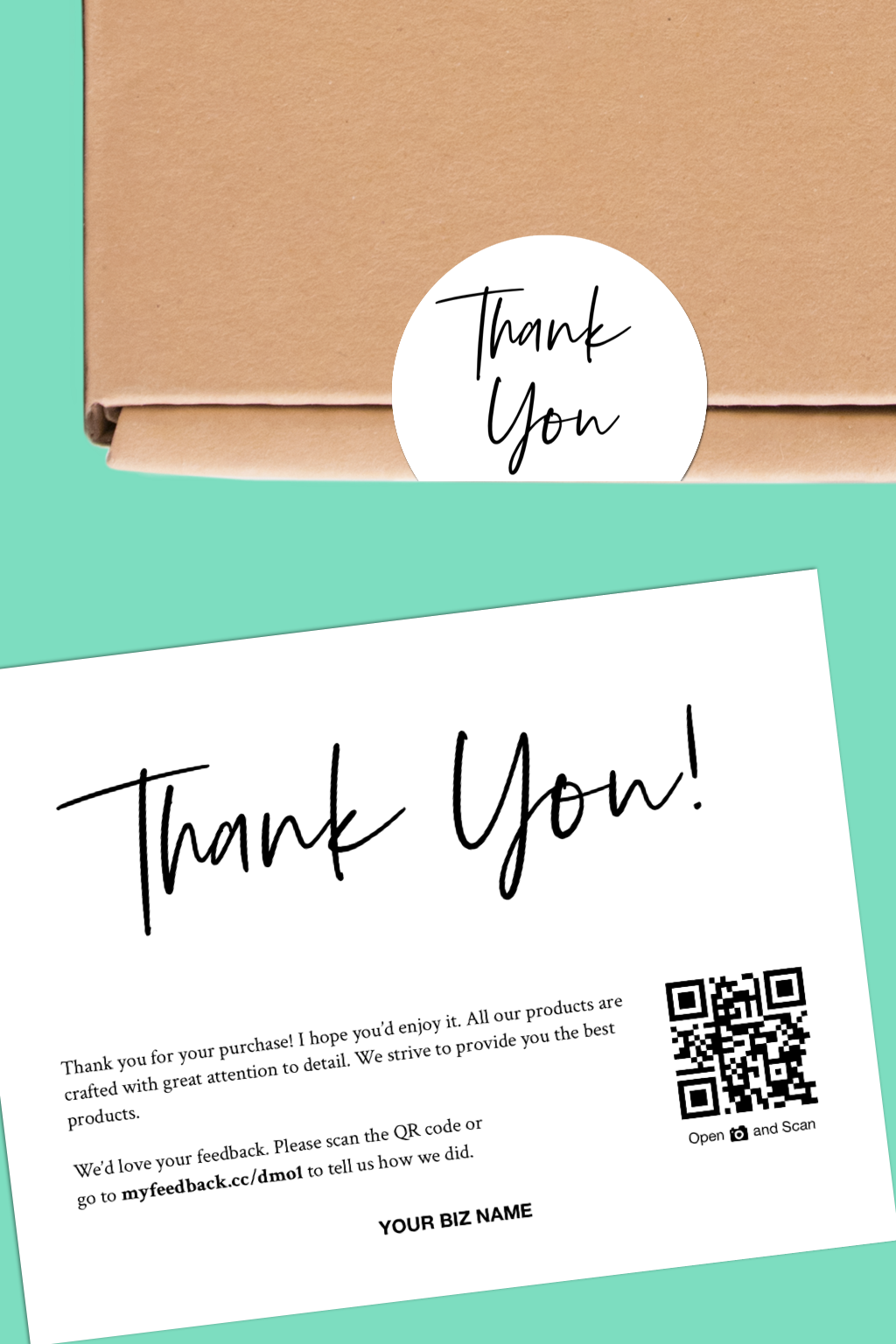 Get A Matching Thank You Labels And Inserts To Brighten Your Package Thank You Labels Packaging Labels Thank You For Embalagem Caixa Embalagens Etiquetas