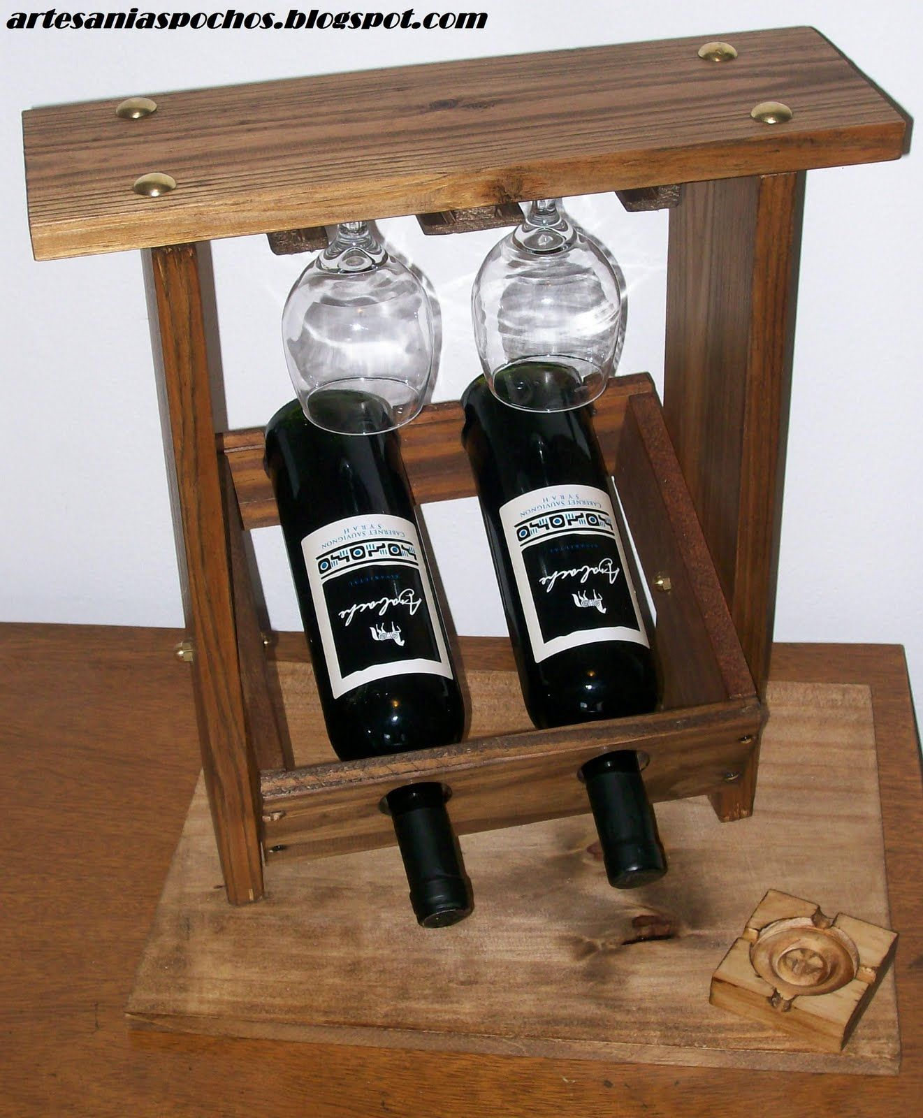 Hermosas vinotecas para dos botellas, con base o sin ella. Con ...