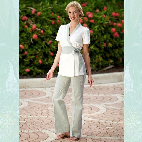Spa massage therapist gear trouser green for Uniform massage spa