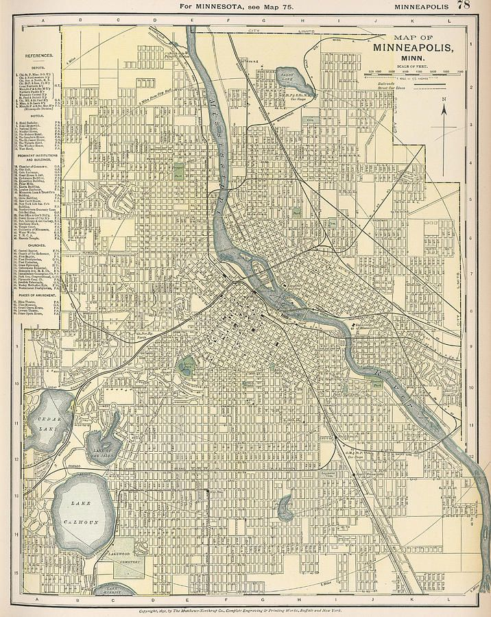 Vintage Map Of Minneapolis Mn - 1891 in 2019   Map ...