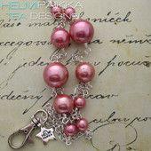 Kulkukorttikoru vaaleanpunaiset purkkapallot 22€