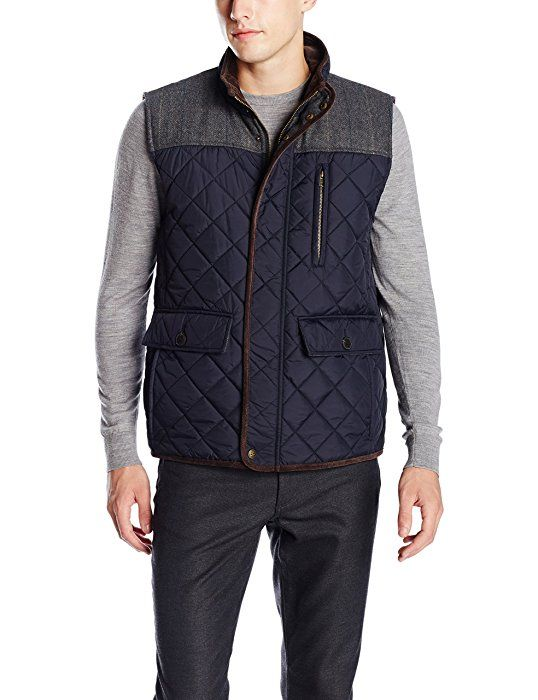 Vince Camuto Mens Quilted Vest