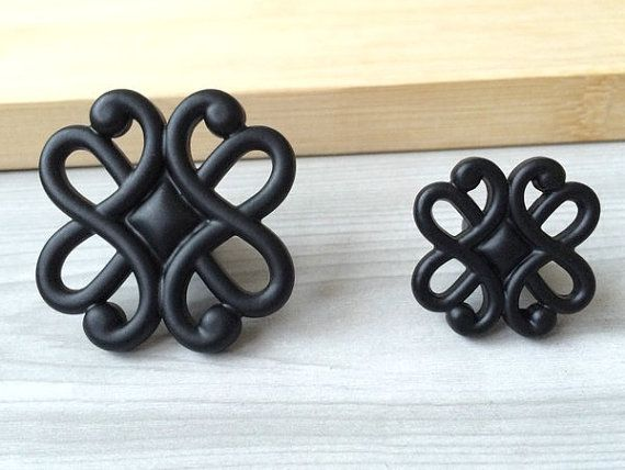 Butterfly Dresser Knob Pulls Drawer Pull Handles Black Kitchen ...