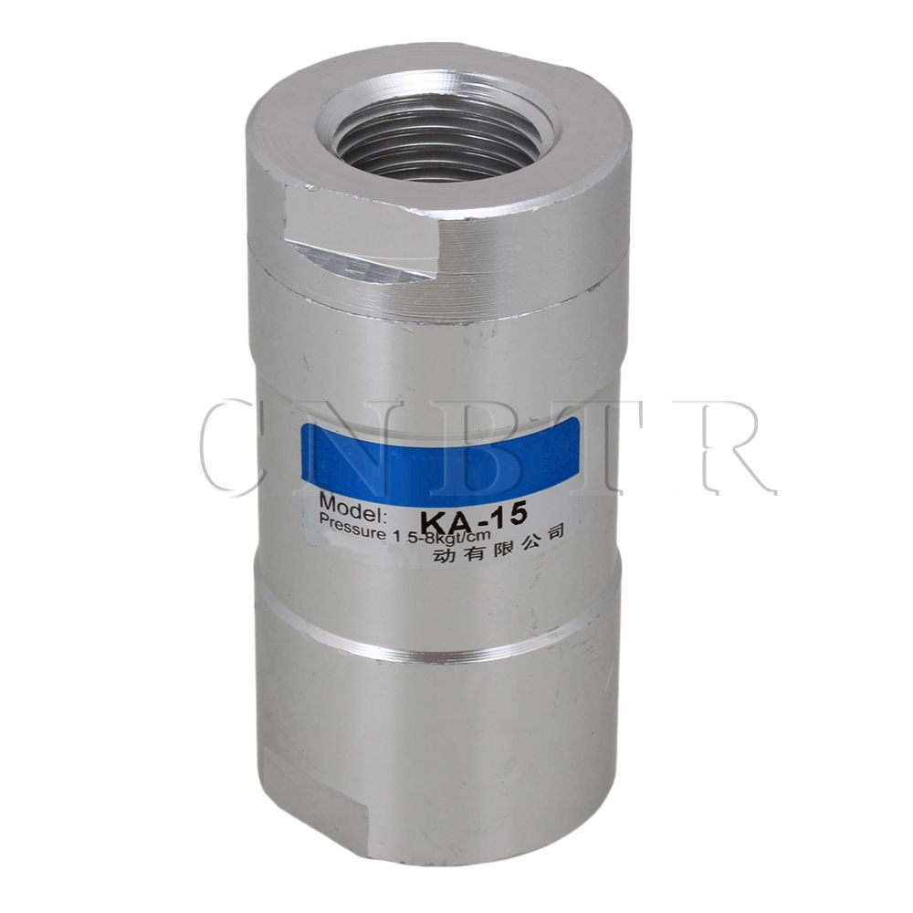 Cnbtr G1 2 One Way Type Air Flow Control Pneumatic Female Thread Inline Check Valve Plumbing Valve Inline