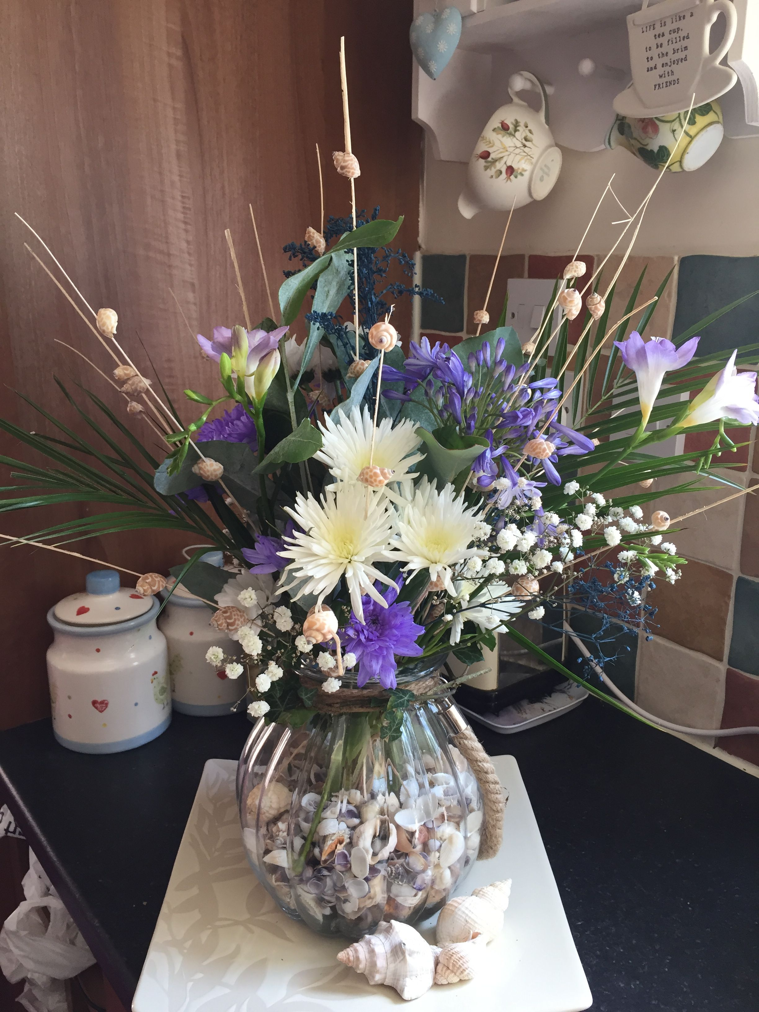 My Seaside Themed Floral Arrangement For Today S Horticultural