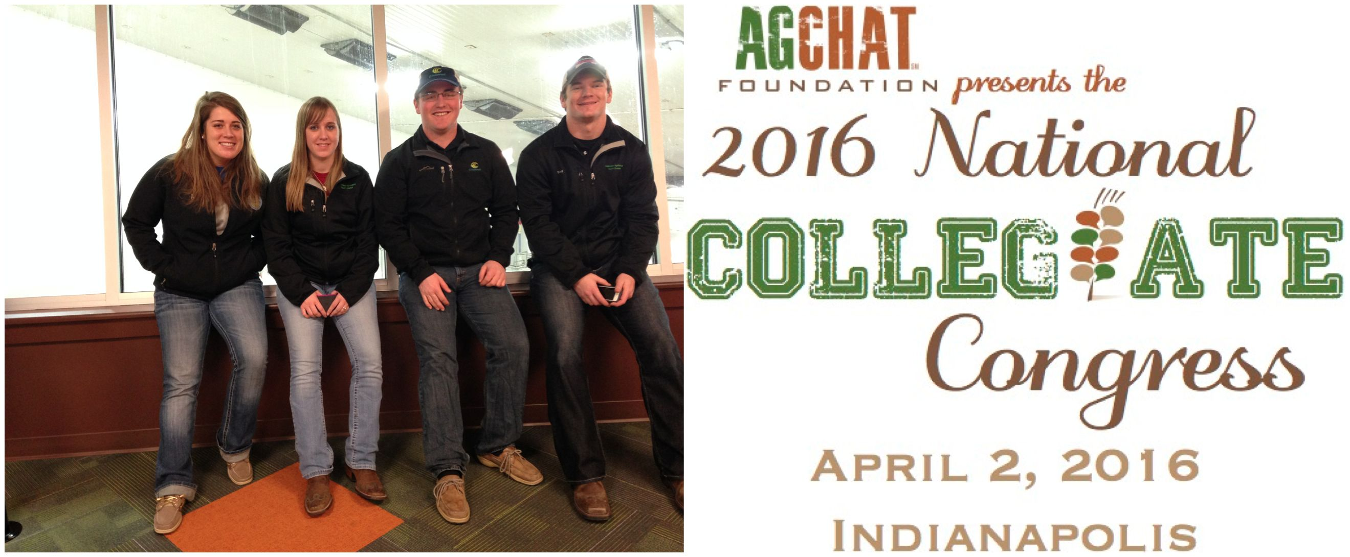 The AgChat Foundation's 2016 Collegiate Congress is in Indianapolis on April 2, being held at Dow AgroSciences. The event is for college students or recent graduates in agriculture majors and minors to learn more about using social and digital media to bridge the agriculture to consumer gap.