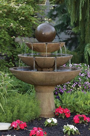 55 Inch Tranquillity Sphere Spill Fountain Water Features In The Garden Garden Fountains Concrete Fountains