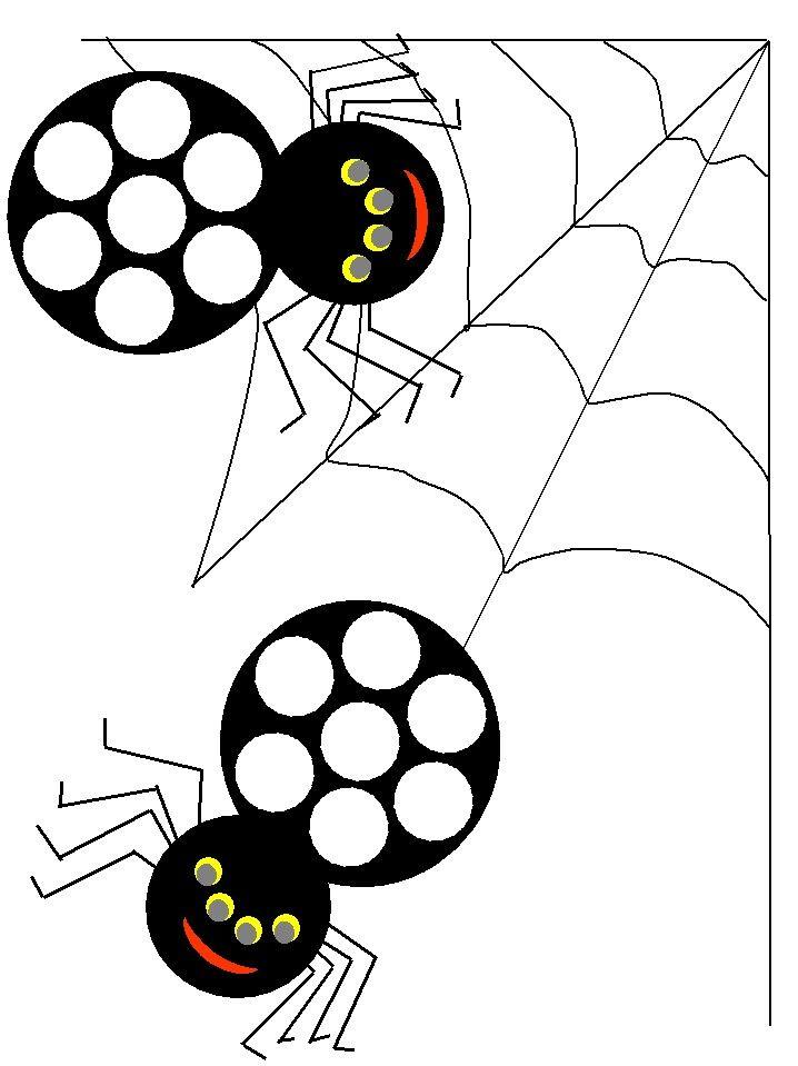 Spiders themed Bingo Dauber Coloring Pages Use bingo daubers ...