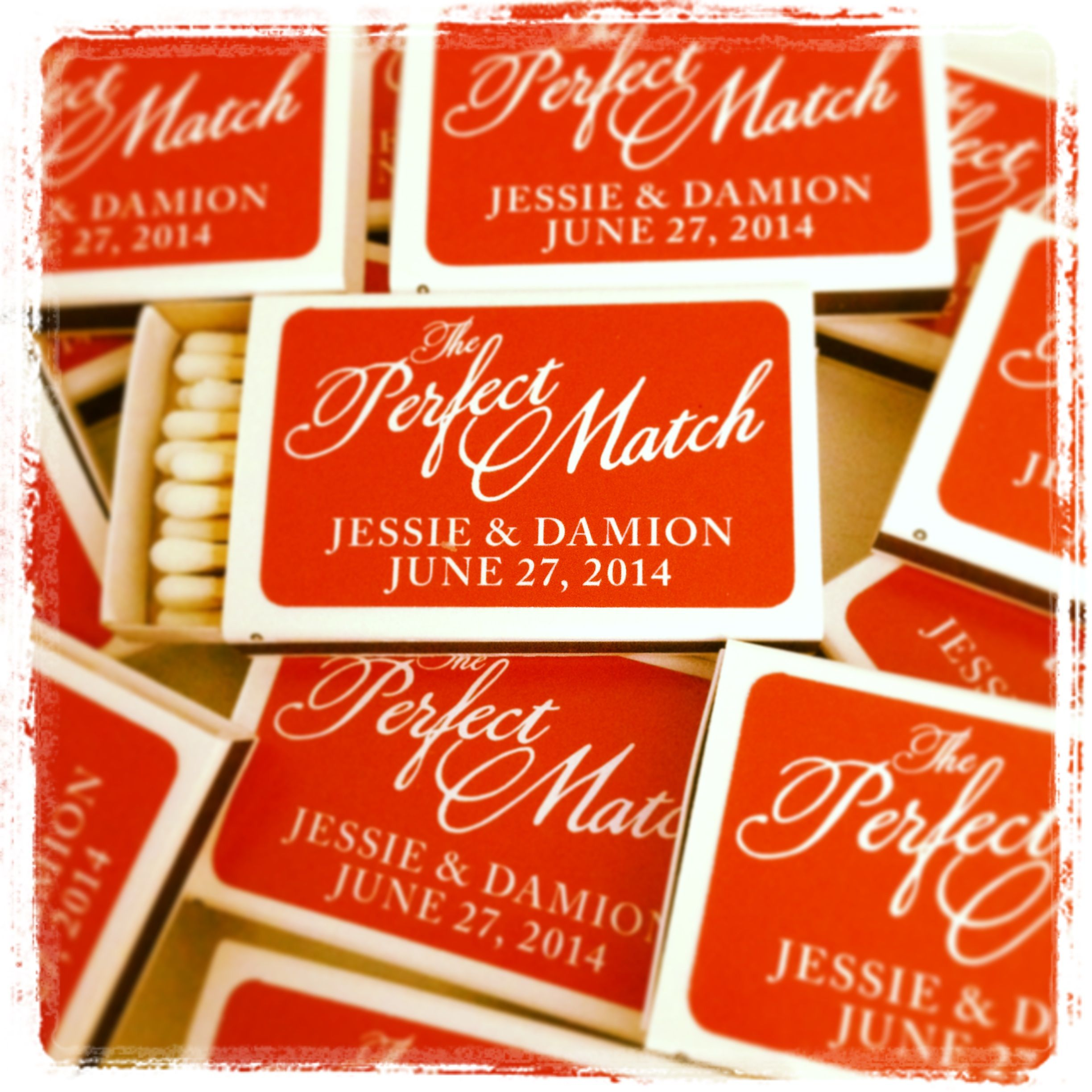 The Perfect Match Wedding Matchbox Favors They Are So Perfect
