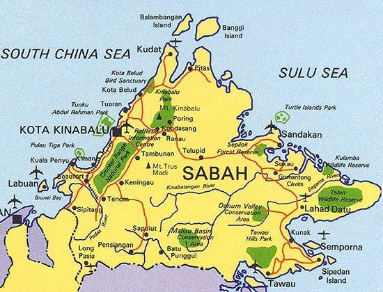 Map of sabah malaysia maps travel holiday geographical maps map of sabah malaysia maps travel holiday sciox Choice Image