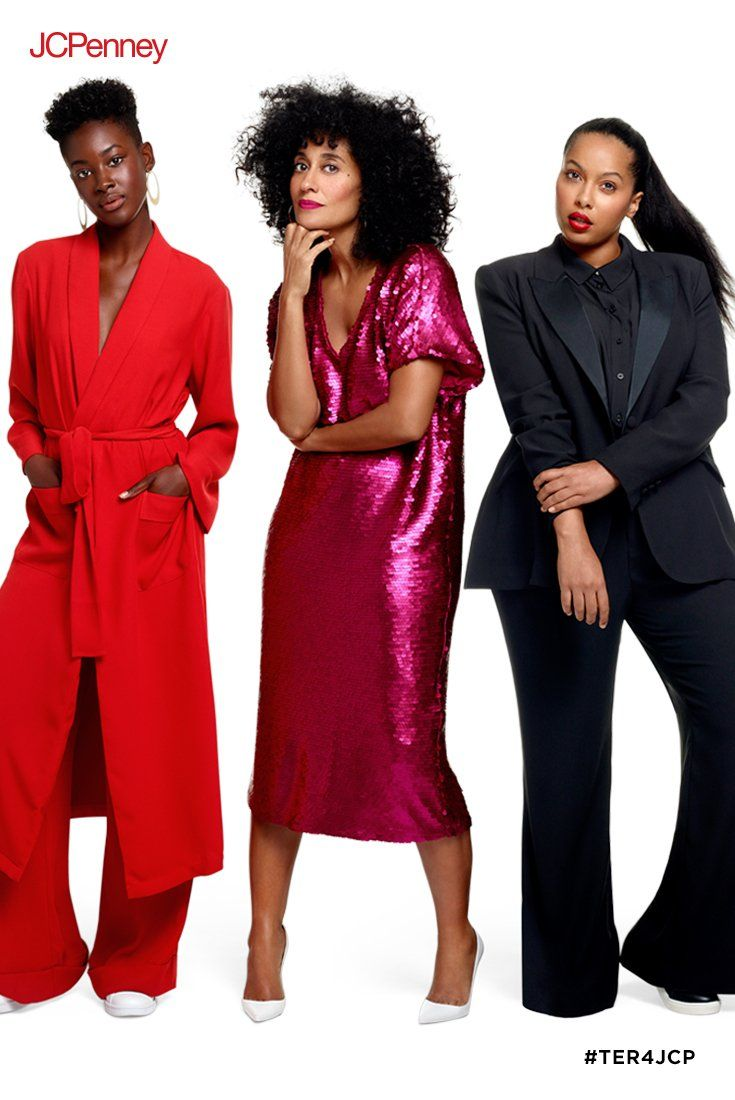 4dc86cfad0 Tracee Ellis Ross brings you three holiday looks guaranteed to turn heads.  A head-to-toe fabulous red look. A hot pink matte sequin dress.