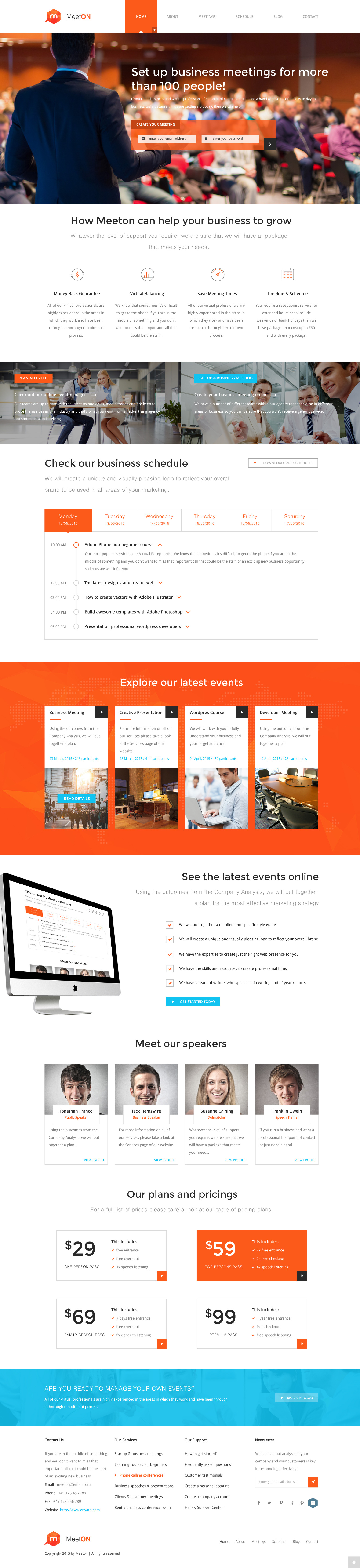 meeton conference event wordpress theme conference meeting