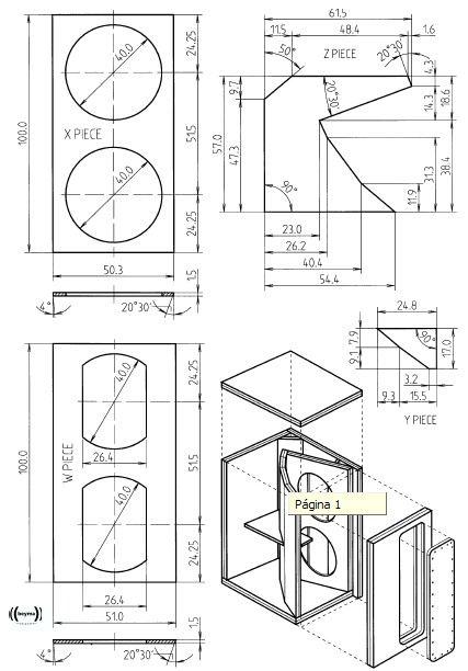 planos para armar bafles y cajas acusticas descargar