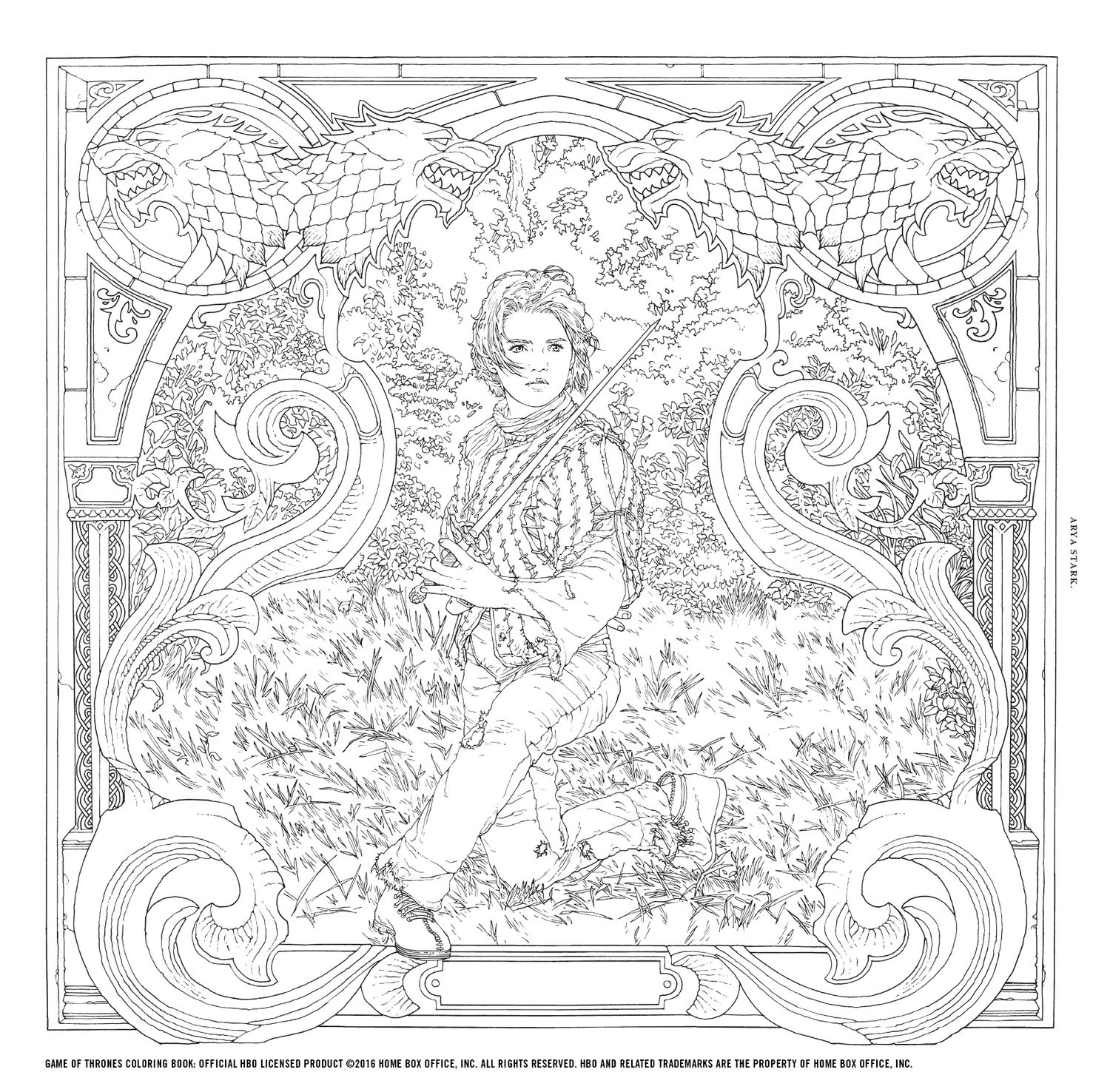 Win The Game Of Thrones Coloring Book