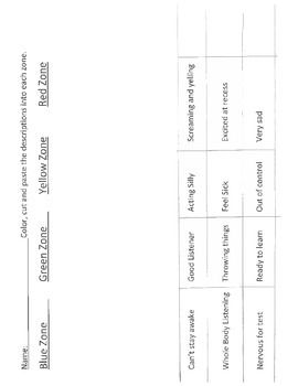 image about Free Printable Self Control Worksheets named ZONES OF Legislation WORKSHEET- Shade, Minimize AND PASTE