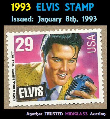 ELVIS PRESLEY 29 CENT USA UNUSED Postage Stamp 21 Years Old 14 733