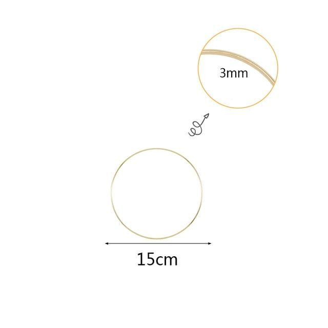 Photo of 10 40cm Gold Metal Ring Hoops DIY Craft Wind Chimes Accessories Hanging Decorations for Wedding Decoration Handmade Home Decor Wind Chimes & Hanging Decorations  – 15cm metal ring