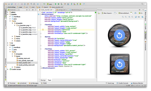 Android Studio and SDK Tools Multiscreen app