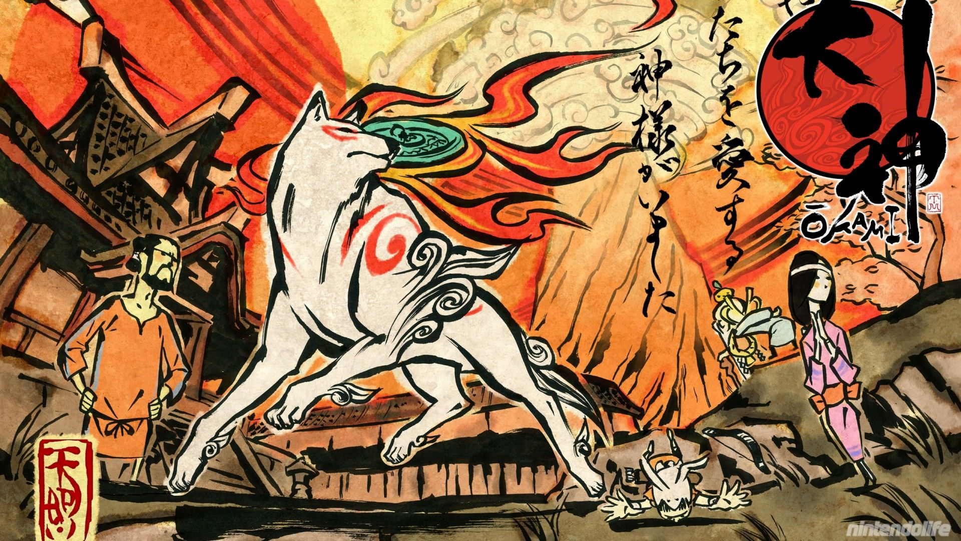 High Definition Mobile Phone And Desktop Wallpapers Okami Japanese Art Art