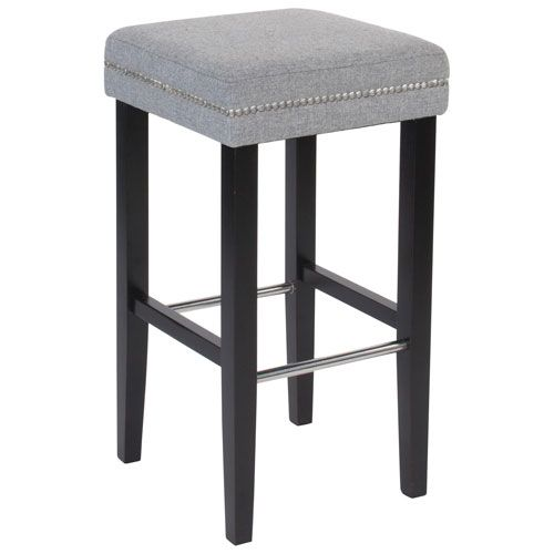 Sawyer Modern Fabric Counter Stool Set Of 2 Grey Online Only