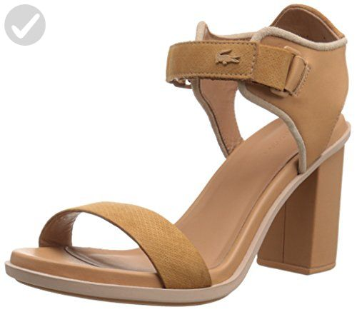 Heel Lacoste Us 10 M Natural Lonelle High Sandal Women's All qaPtaFf