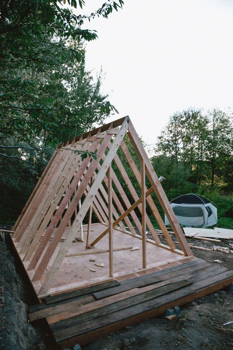 Uo Journal How To Build An A Frame Cabin Urban Outers