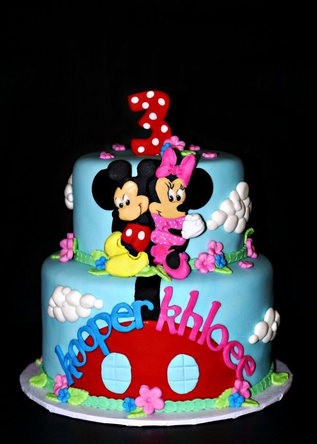 Mickey and Minnie Twin Birthday Childrens Birthday Cakes
