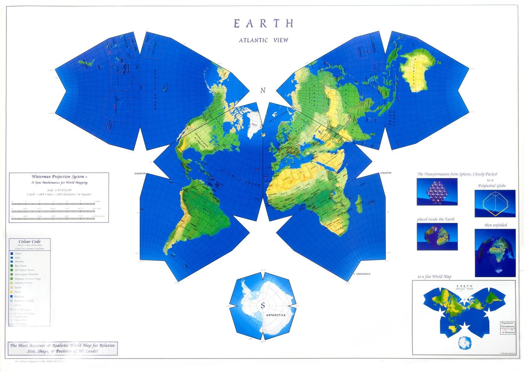 World Map India Centric.  Butterfly Waterman Projection World Map Atlantic centric with Antarctic Cutaway 36 maps that will make you see the world in completely new ways