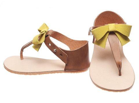 Zuzii Vivi Yellow Bow Sandal - Pre Order