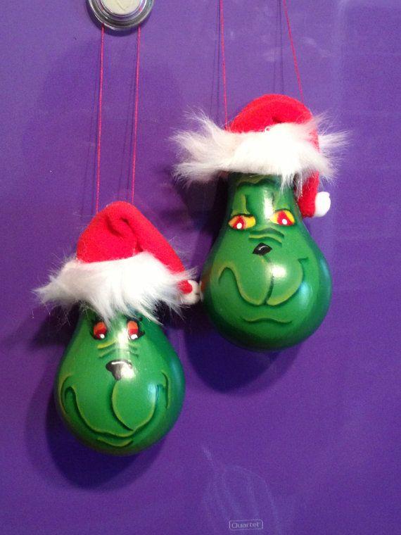 Grinch Lightbulb Light Bulb Ornament by OwlandPeacockGifts on Etsy, $6.50