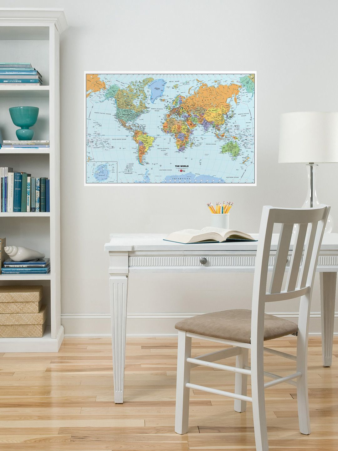 465f579ccd World map wall decal   maps   World map wall decal, World map decal ...