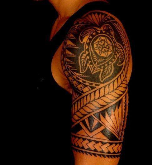 Tribal Turtle Tattoos For Men | Tattoos | Pinterest ...
