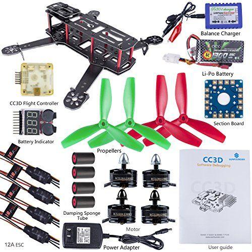 SunFounder 250 FPV Quadcopter Drone Frame Kit CC3D EMAX ESC