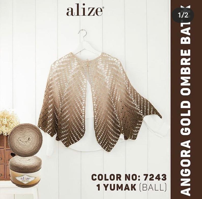 Alize Angora Gold OMBRE Batik, Wolle Garn, AcrylGarn