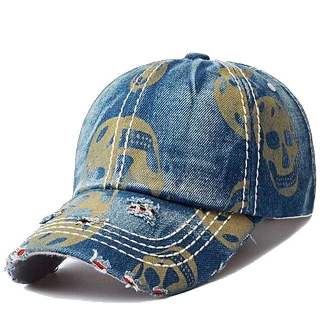 def651f1 MensFashionHouse Fashion Skull Caps | Products | Denim baseball cap ...