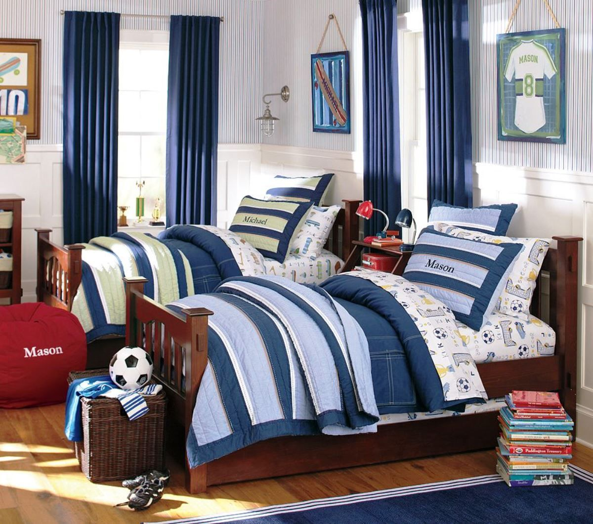 Double Bed Bedrooms | Double Boys Sports Bedroom Ideas