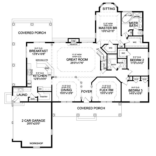 Featured House Plan Bhg 4937 House Plans Craftsman Style House Plans Ranch House Plan